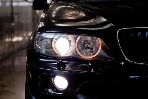 Auto headlights after proper Medford auto repair